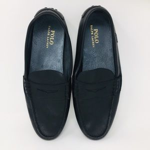 Polo Ralph Lauren Black Wes Leather Penny Loafers